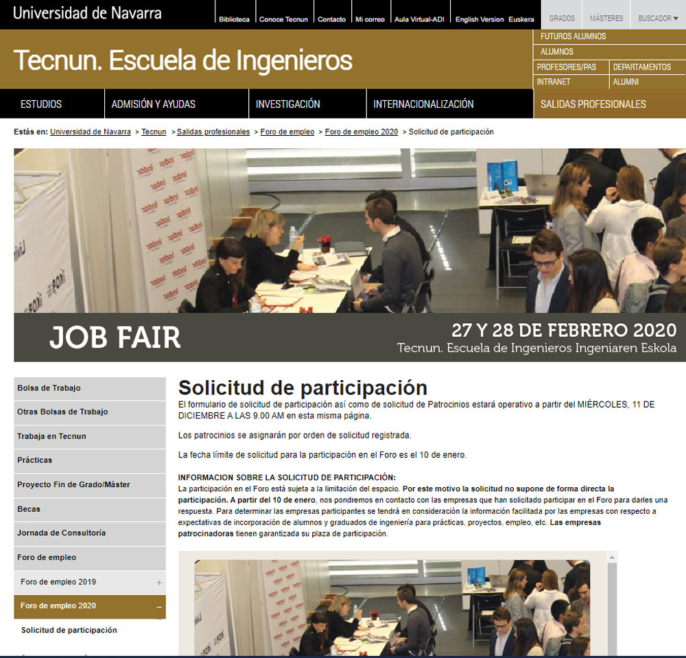 GH at the Employment Forum of Tecnun 2020