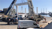 Renovation of the GH275 nautical self-propelled gantry crane.
