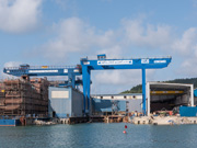 Installation of a double girder gantry crane in Balenciaga Shipyard